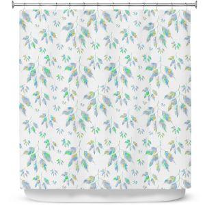 Premium Shower Curtains | Pam Amos - Rainbow Levels 1 | repetition geometric mandala flower