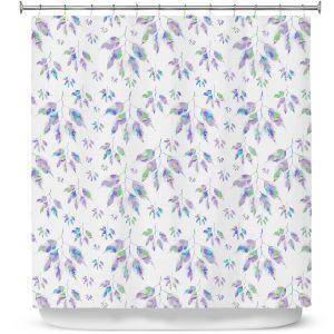 Premium Shower Curtains | Pam Amos - Rainbow Levels 2 | repetition geometric mandala flower