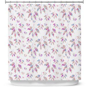 Premium Shower Curtains | Pam Amos - Rainbow Levels 3 | repetition geometric mandala flower