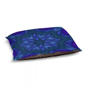 Decorative Dog Pet Beds | Pam Amos - Rippled Blues | Mandala shapes geometric