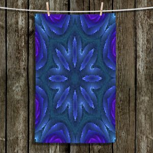 Unique Bathroom Towels | Pam Amos - Rippled Blues | Mandala shapes geometric