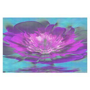 Decorative Floor Covering Mats | Pam Amos - Rose Delight Ripples 3 | digital flower abstract