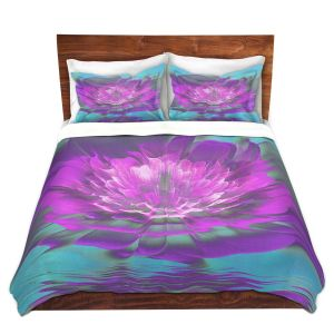 Artistic Duvet Covers and Shams Bedding | Pam Amos - Rose Delight Ripples 3 | digital flower abstract