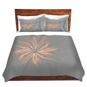 Artistic Duvet Covers and Shams Bedding | Pam Amos - Silk Flower Gold | nature floral