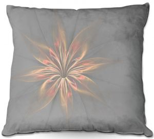 Throw Pillows Decorative Artistic | Pam Amos - Silk Flower Gold | nature floral