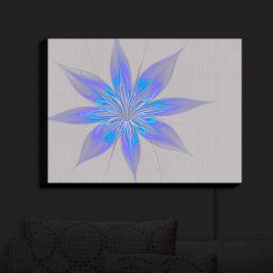 Nightlight Sconce Canvas Light | Pam Amos - Silk Flower Light Blue