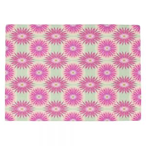 Countertop Place Mats   Pam Amos - Spikey Flower Pattern Pink   floral repetition