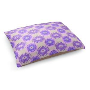 Decorative Dog Pet Beds | Pam Amos - Spikey Flower Pattern Purple | floral repetition
