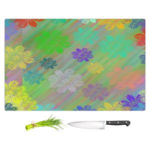 Artistic Kitchen Bar Cutting Boards | Pam Amos - Spring Shower | Flower Floral pattern