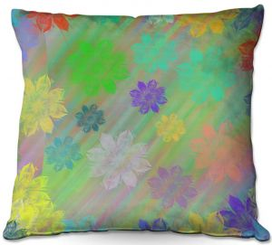 Decorative Outdoor Patio Pillow Cushion | Pam Amos - Spring Shower | Flower Floral pattern
