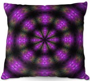 Throw Pillows Decorative Artistic | Pam Amos - Spun Flowers | Nature floral mandala spiritual circular geometric
