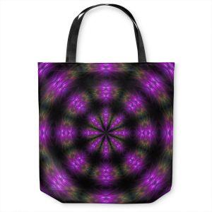 Unique Shoulder Bag Tote Bags | Pam Amos - Spun Flowers | Nature floral mandala spiritual circular geometric