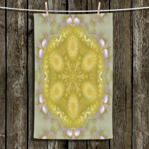 Unique Bathroom Towels | Pam Amos - Star Struck 2 Yellow | Circular mandala shapes geometric