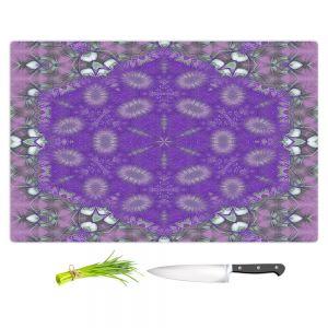 Artistic Kitchen Bar Cutting Boards | Pam Amos - Star Struck 3 Purple | Circular mandala shapes geometric