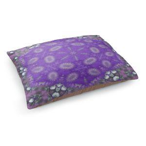 Decorative Dog Pet Beds | Pam Amos - Star Struck 3 Purple | Circular mandala shapes geometric