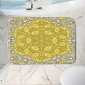 Decorative Bathroom Mats | Pam Amos - Star Struck 3 Yellow | Circular mandala shapes geometric