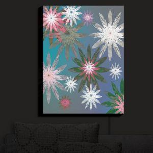 Nightlight Sconce Canvas Light | Pam Amos - Starburst Blue Green | digital flower pattern