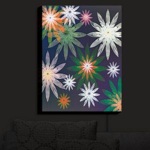Nightlight Sconce Canvas Light | Pam Amos - Starburst Navy | digital flower pattern