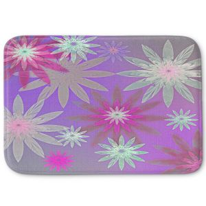 Decorative Bathroom Mats | Pam Amos - Starburst Purple Pink | digital flower pattern