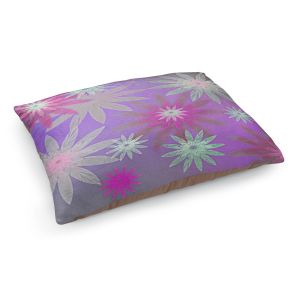 Decorative Dog Pet Beds | Pam Amos - Starburst Purple Pink | digital flower pattern