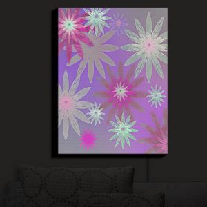 Nightlight Sconce Canvas Light | Pam Amos - Starburst Purple Pink | digital flower pattern