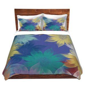 Artistic Duvet Covers and Shams Bedding | Pam Amos - Summer Breeze | flower digital simple pattern