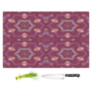 Artistic Kitchen Bar Cutting Boards   Pam Amos - Teardrops Red   Mandala shapes geometric