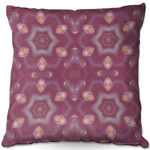 Decorative Outdoor Patio Pillow Cushion | Pam Amos - Teardrops Red | Mandala shapes geometric