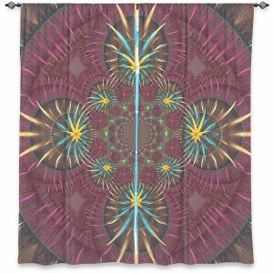 Decorative Window Treatments | Pam Amos - Wheel of Zirgon 2 | Geometric Pattern