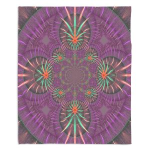 Decorative Fleece Throw Blankets | Pam Amos - Wheel of Zirgon 3 | Geometric Pattern
