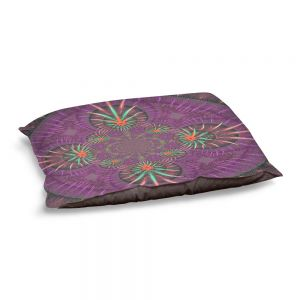 Decorative Dog Pet Beds | Pam Amos - Wheel of Zirgon 3 | Geometric Pattern