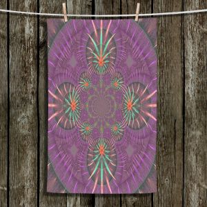 Unique Bathroom Towels | Pam Amos - Wheel of Zirgon 3 | Geometric Pattern