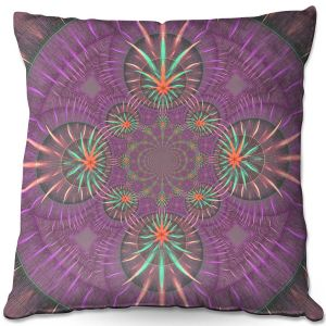 Throw Pillows Decorative Artistic | Pam Amos - Wheel of Zirgon 3 | Geometric Pattern