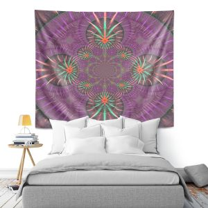 Artistic Wall Tapestry | Pam Amos - Wheel of Zirgon 3 | Geometric Pattern