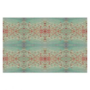 Decorative Floor Coverings | Paper Mosaic Studio - Abstract Turquoise Red