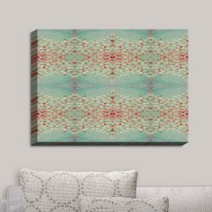 Decorative Canvas Wall Art | Paper Mosaic Studio - Abstract Turquoise Red | Abstract Patterns