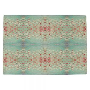 Decorative Kitchen Placemats 18x13 from DiaNoche Designs by Paper Mosaic Studio - Abstract Turquoise Red
