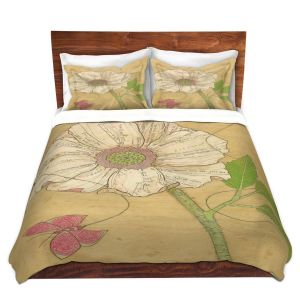 Artistic Duvet Covers and Shams Bedding | Paper Mosaic Studio - Aerial Maneuvers | Flower print butterfly
