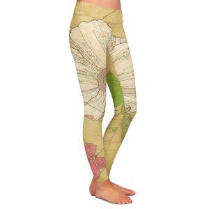 Casual Comfortable Leggings | Paper Mosaic Studio - Aerial Maneuvers | Flower print butterfly