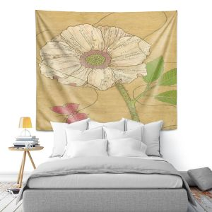 Artistic Wall Tapestry | Paper Mosaic Studio - Aerial Maneuvers | Flower print butterfly