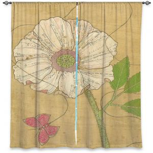 Decorative Window Treatments   Paper Mosaic Studio - Aerial Maneuvers   Flower print butterfly