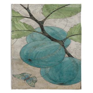 Decorative Fleece Throw Blankets | Paper Mosaic Studio - Blue Bells