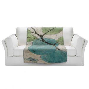 Artistic Sherpa Pile Blankets | Paper Mosaic Studio - Blue Bells
