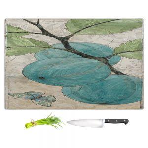 Artistic Kitchen Bar Cutting Boards | Paper Mosaic Studio - Blue Bells