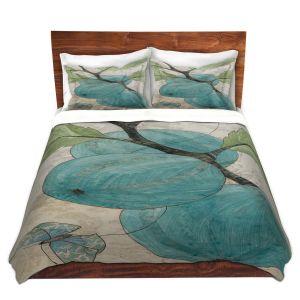 Artistic Duvet Covers and Shams Bedding   Paper Mosaic Studio - Blue Bells