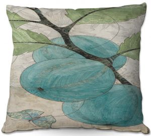Throw Pillows Decorative Artistic | Paper Mosaic Studio - Blue Bells