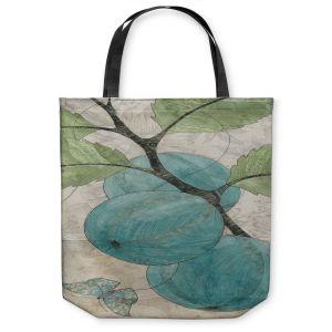 Unique Shoulder Bag Tote Bags | Paper Mosaic Studio - Blue Bells