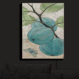 Nightlight Sconce Canvas Light | Paper Mosaic Studio - Blue Bells | Nature Berries Butterflies