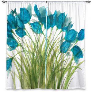 Decorative Window Treatments | Paper Mosaic Studio - Blue in Breeze | Flower floral