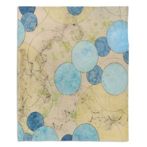 Artistic Sherpa Pile Blankets | Paper Mosaic Studio - Blue Journey | Bubble abstract pattern
